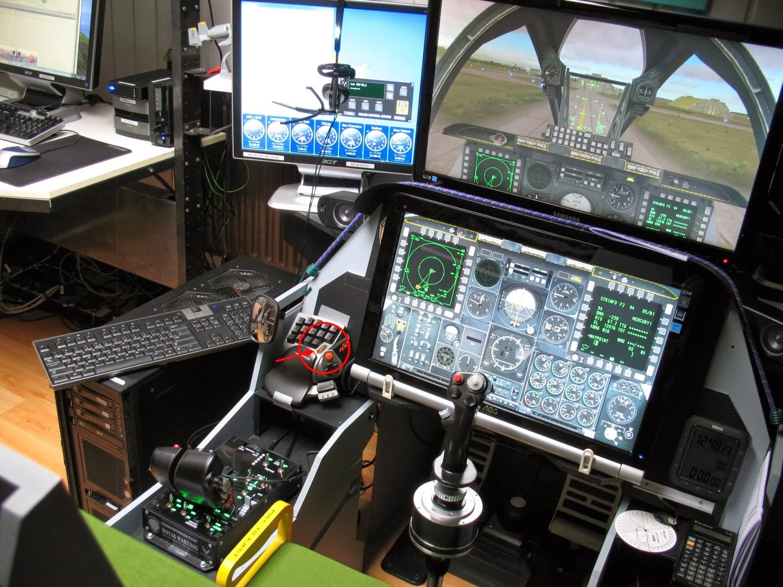 Grimreapers83 Homebuilt cockpit  JEDI cockpit A 10 Warthog