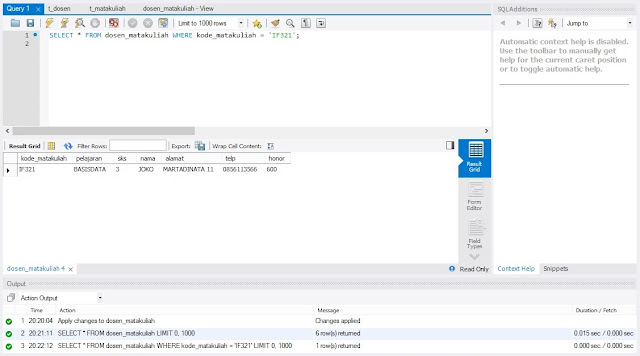 MySQL Display View with Conditions