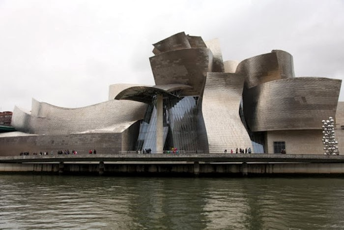 The Guggenheim Museum Bilbao is a museum of modern and contemporary art, designed by Canadian-American architect Frank Gehry, and located in Bilbao, Basque Country, Spain. The museum was inaugurated on 18 October 1997 by King Juan Carlos I of Spain.