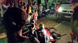 Homem cai de bicicleta em Cuité e é socorrido pelo Samu