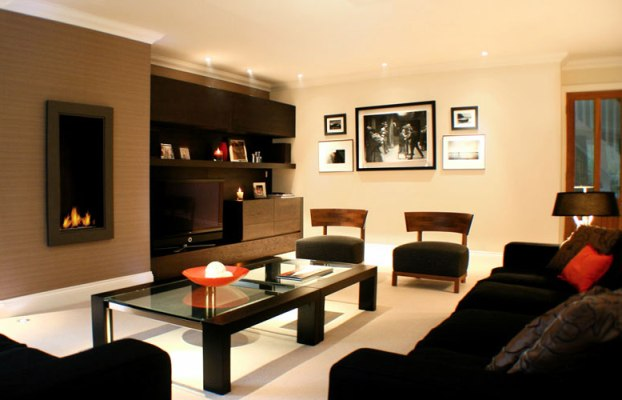Living room wall colors for black furniture wall for Black living room furniture