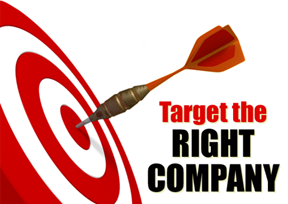 target the right company