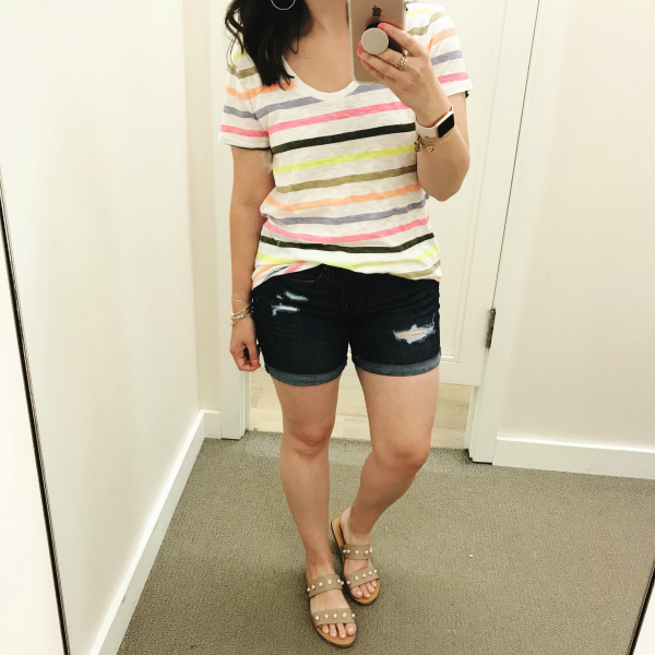 style on a budget, loft try on session, what to buy for summer, mom style, north carolina blogger