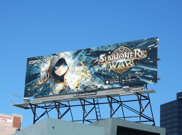 Summoners War 2015 game billboard