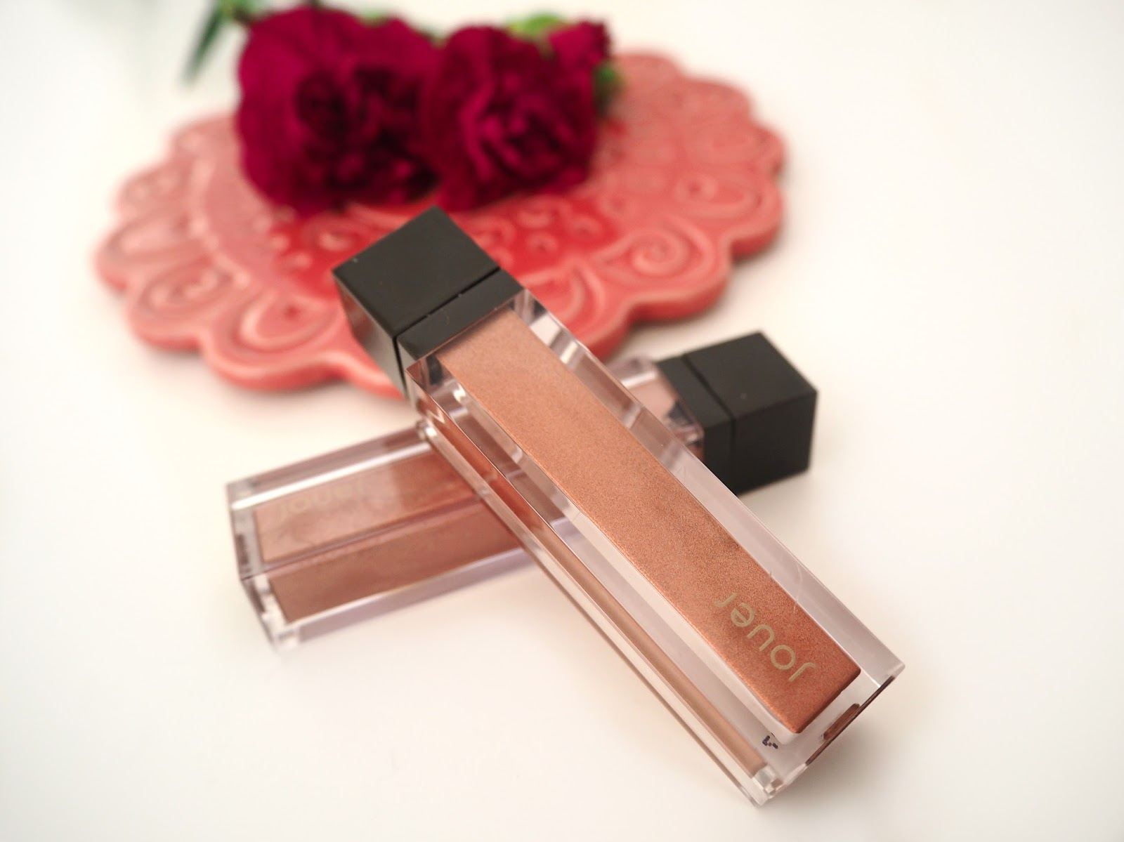 Jouer Cosmetics Metallic Lipsticks, Katie Kirk Loves, UK Blogger, Beauty Blogger, Swatches, Liquid Lipsticks, Metallic Lipstick, Rose Gold Lipstick, Jouer Cometics, Praline Lipstick, Citronade Rose Lipstick, Lipstick Swatches, UK Beauty Blogger, Make Up Blogger, Make Up Review, Make Up Swatches