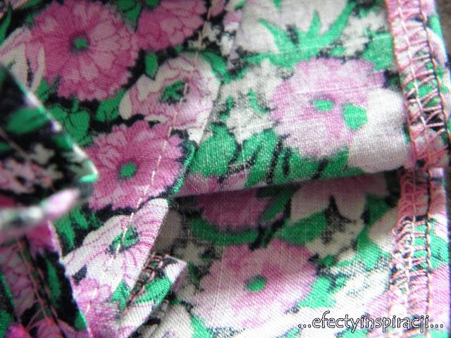 e-fectyinspiracji, sukienka dla dziewczynki, sukienka bawełniana, jak uszyć, moda dziecięca, pomysł na prezent, wykończenie dekoltu lamówką, falbana