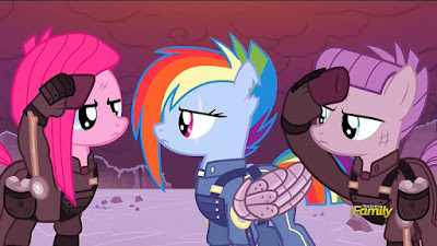 Alt!Rainbow Dash with Pinkamena and Maud