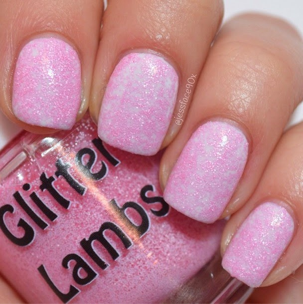 Pink Christmas Sugar Cookie Glitter Lambs Nail Polish Swatched by JessFace90x