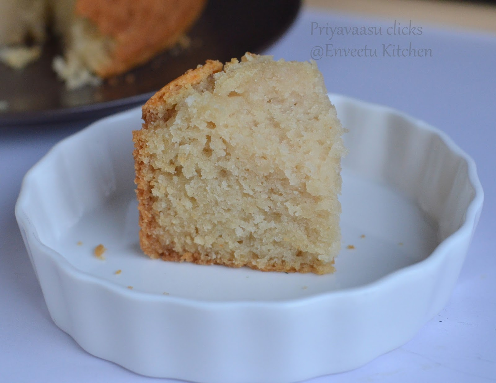Eggless Buttermilk Sponge Cake Recipes