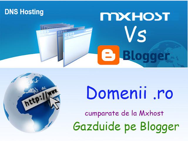 Gazduire domeniu de la Mxhost pe Blogger