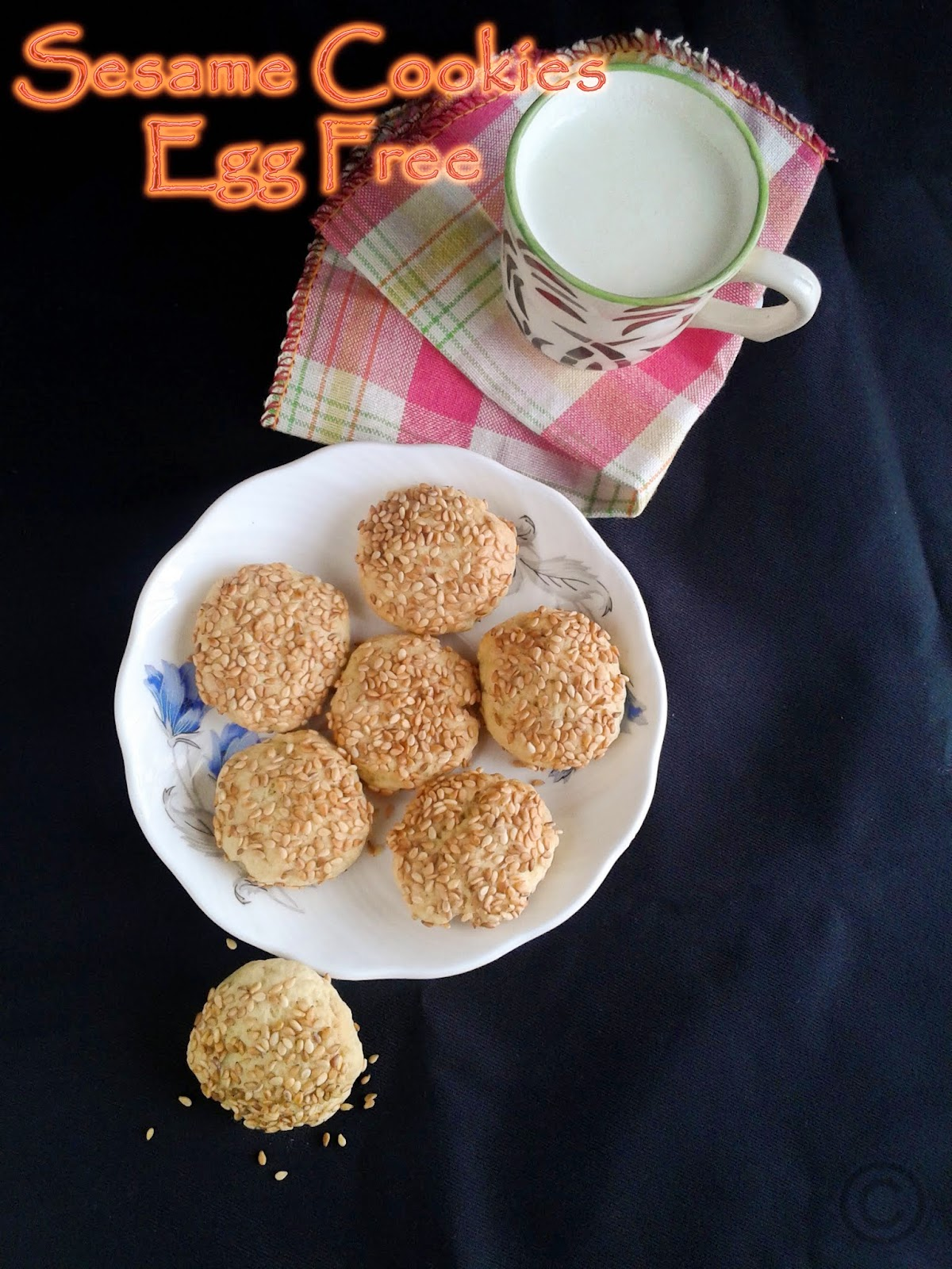 sesame cookies- eggfree