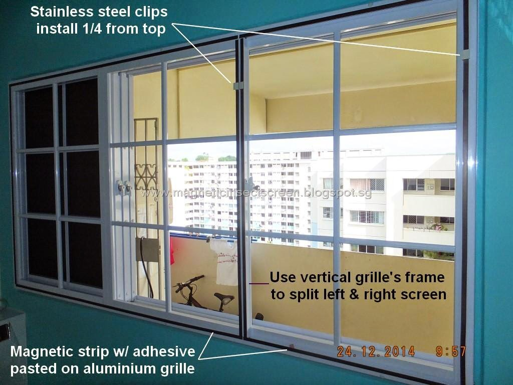 Diy Mosquito Net For Windows Diy Magnetic Insect Screen Singapore Install On Window