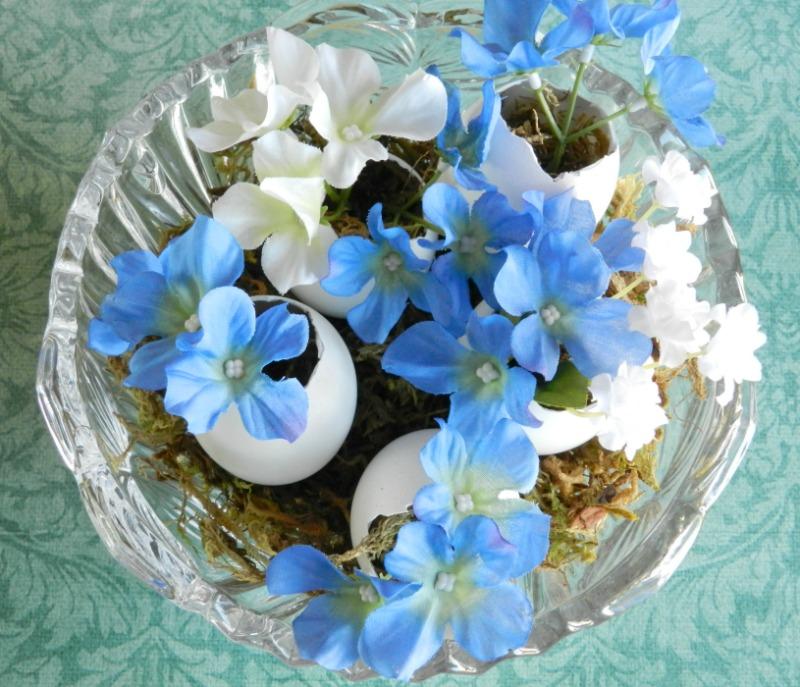 Floral Stuffed Egg Vases Tutorial