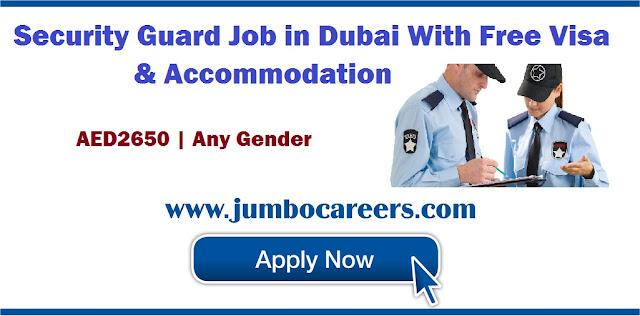 Security Guard Job in Dubai