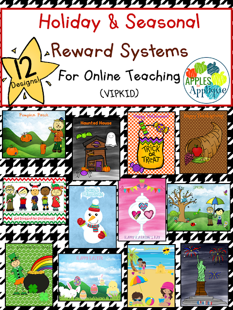 12 Holiday and Seasonal Reward Systems for Online Teaching (VIPKID) | Apples to Applique
