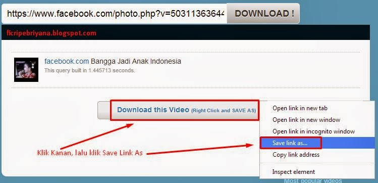 Cara Downloads Video Di Facebook Gratis Tanpa Software