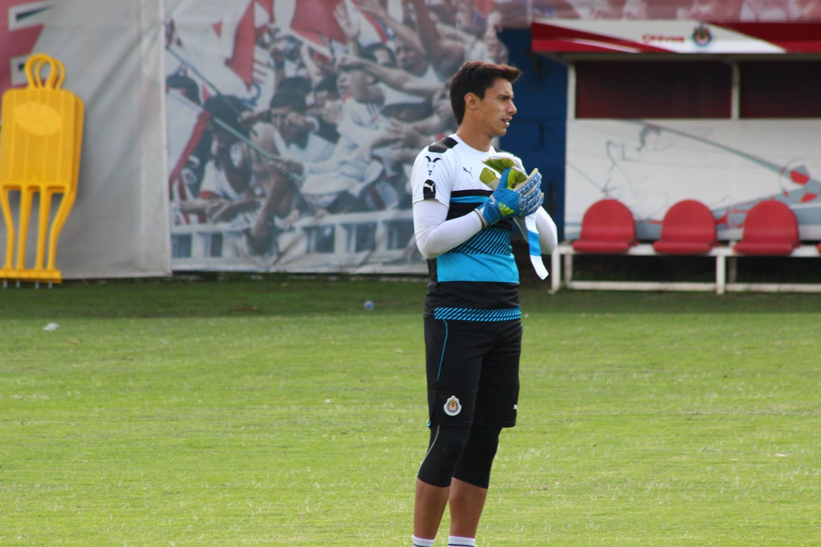 Antonio Rodríguez en el entrenamiento.