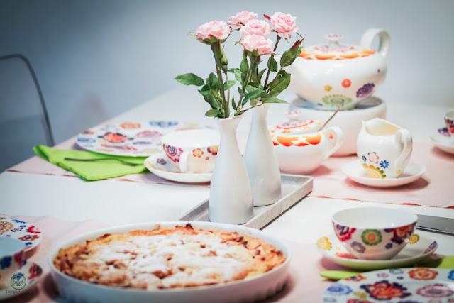 gedeckter Apfelkuchen aus klassischem Mürbteig - Foodblog Topfgartenwelt