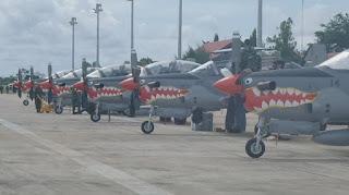 12 Pesawat Tempur TNI AU Beraksi