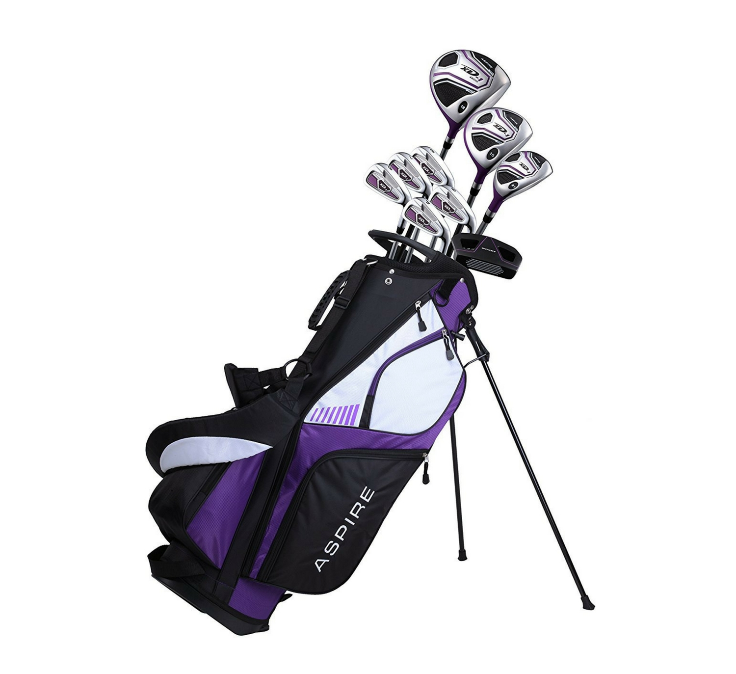 Premium Lightweight Ladies Golf Club Set (Purple)