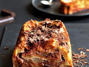 Croque-cake poire chocolat