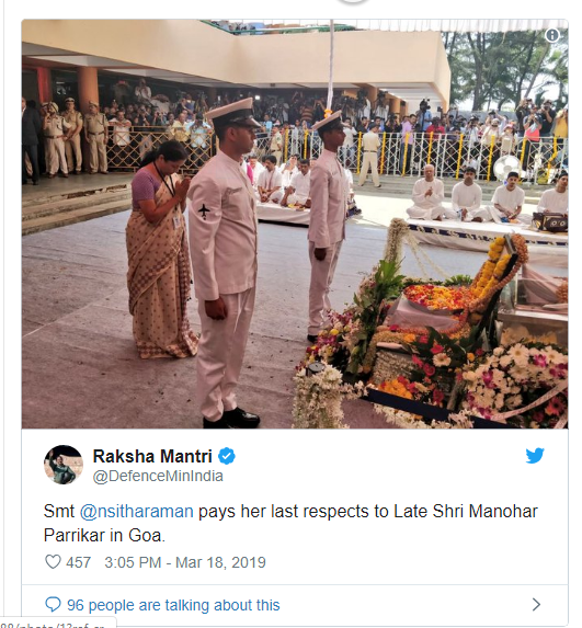 Manohar Parrikar 's state funeral today-news updates