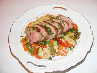 Piept de rata cu legume mexicane si orez retete culinare,
