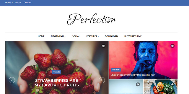 Perfection Responsive Blogger Templates