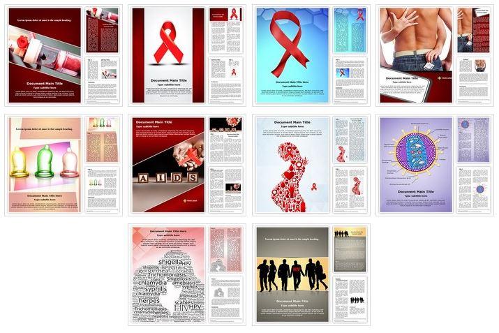 hiv aids word document template bundle powerpoint presentation template bundles