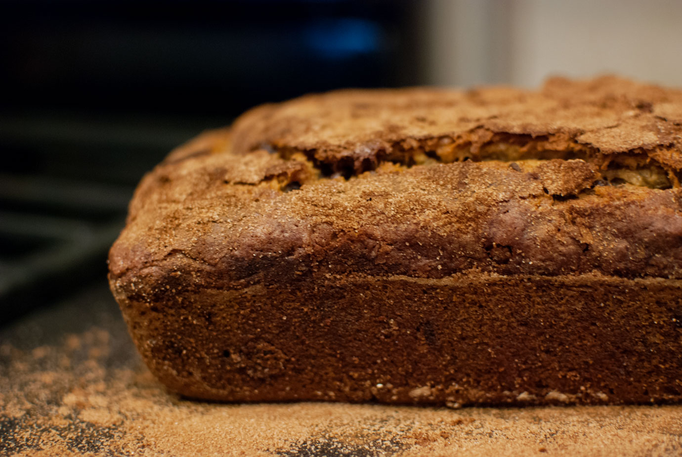 Banana Bread With Chocolate Chips Loaf