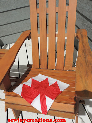 maple leaf block on adirondack