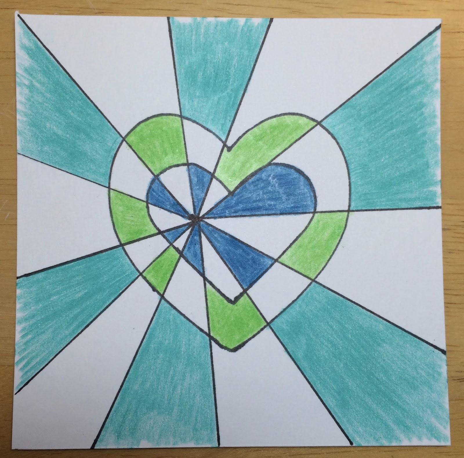Kathy S Art Project Ideas Double Heart Optical Illusion