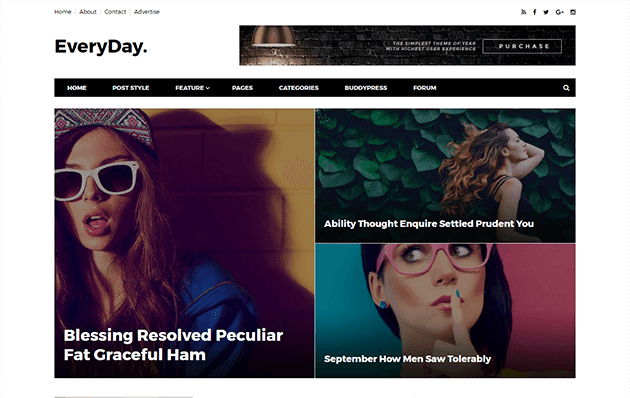 Everyday - Simple Responsive Blogger Template