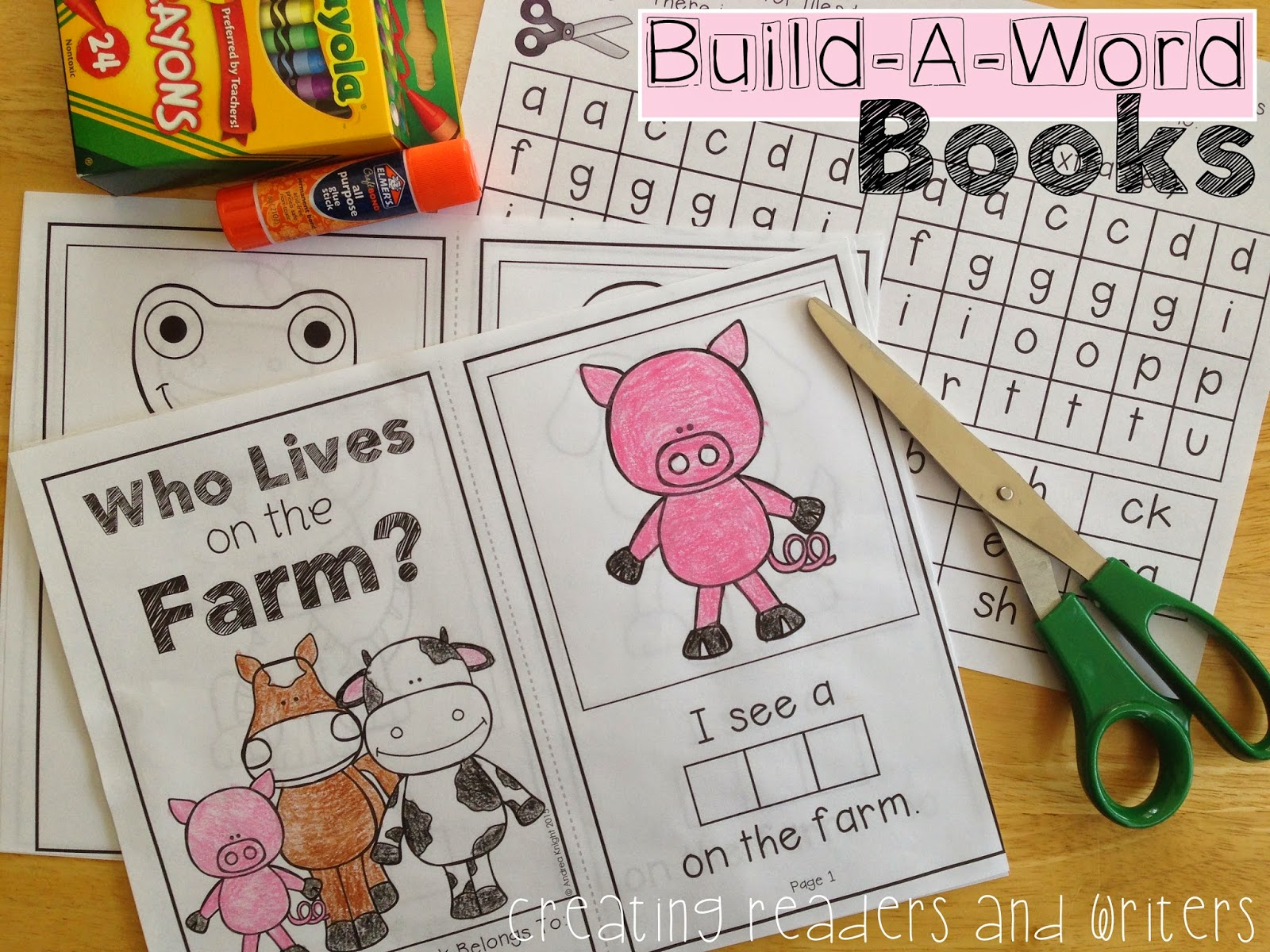 Creating Readers And Writers Build A Word Books