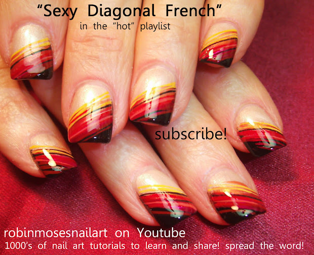 Fall French Tip Nail Designs