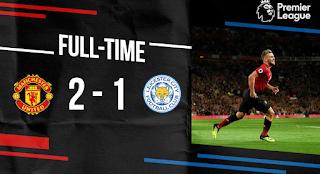 مانشيستر يونايتد يفوز علي ليستر سيتي 2-1