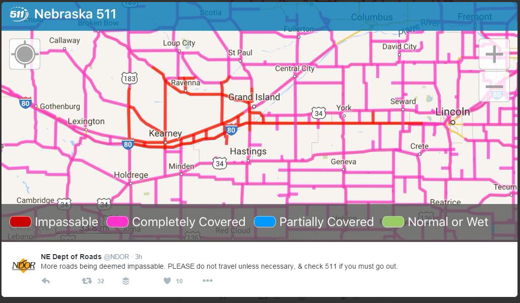 Kansas Transportation: I-70 closed at Salina
