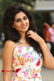 Actress Shamili Stills in Floral Short Dress at Sree Ramaraksha Song Launch 0035