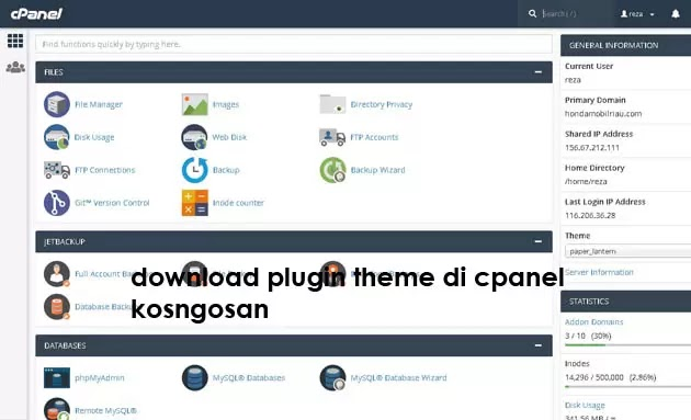 download tema plugin dari cpanel