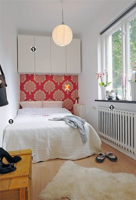 quarto, solteiro, floral, vermelho, feminino, braco, cama, casa, como decorar, decoração, dicas, home, bedroom