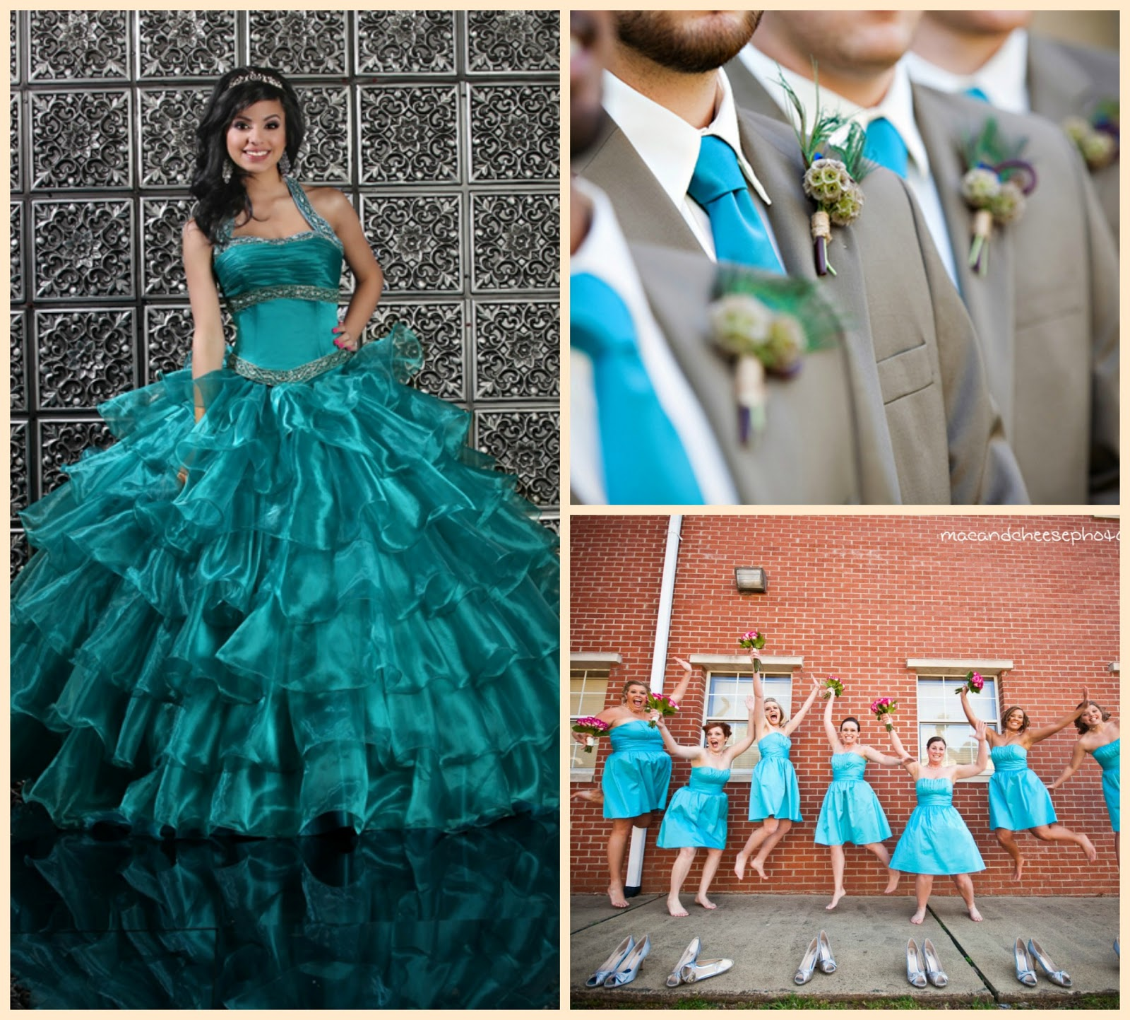 A Marriage of Passion & Style: Teal Ribbon, Teal Wedding