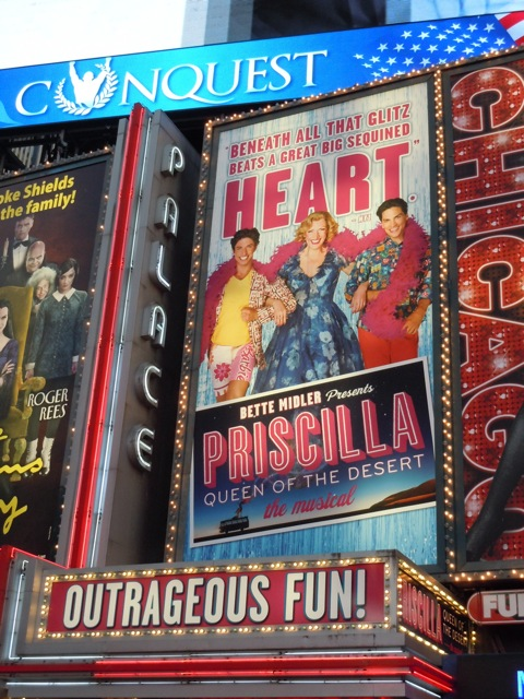 Priscilla Broadway musical billboard
