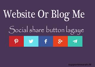 social share button blog me kaise lagaye