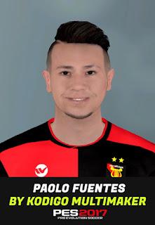 PES 2017 Faces Paolo Fuentes Varcárcel by Kodigo
