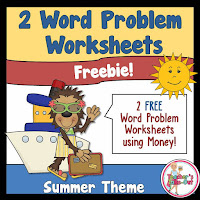 FREE Summer Word Problem Worksheets