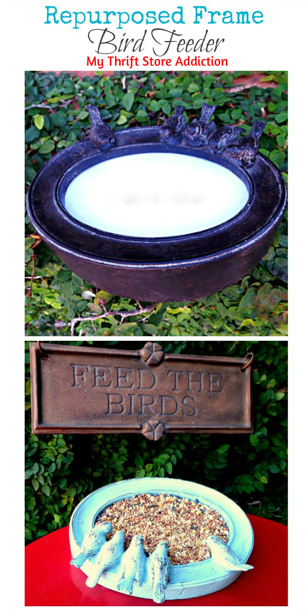 The 15 Minute Fix: Repurposed Frame Bird Feeder mythriftstoreaddiction.blogspot.com Pin it! Paint a broken picture frame and recreate it as a tabletop bird feeder!