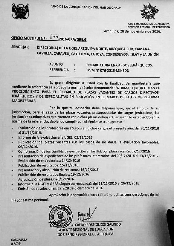 Evaluaci n para encargo de plazas jer rquicas vacantes for Plazas vacantes concurso docente 2016