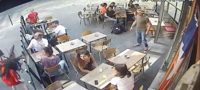 Σάλος : Παρενόχλησε νεαρή κοπέλα και επειδή του απάντησε την χαστούκισε! (BINTEO)