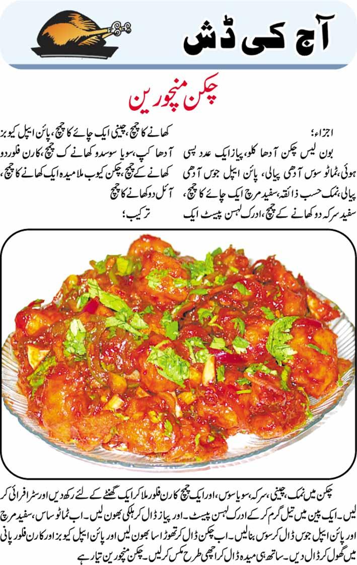 Daily Cooking Recipes in Urdu: Chicken Manchurian Recipe ...