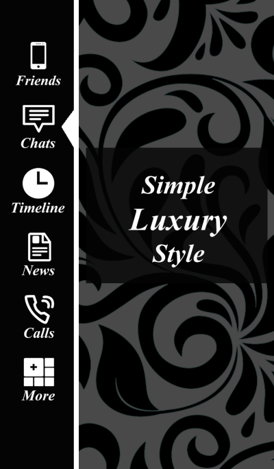 Simple luxury theme2 Black